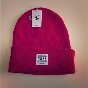 NWT Red Lawrence Beanie